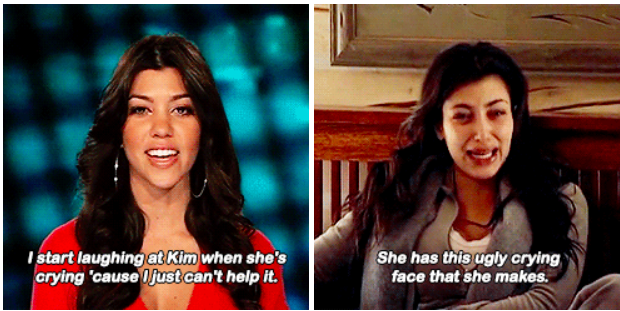When Kourtney introduced us to Kim's cry face.