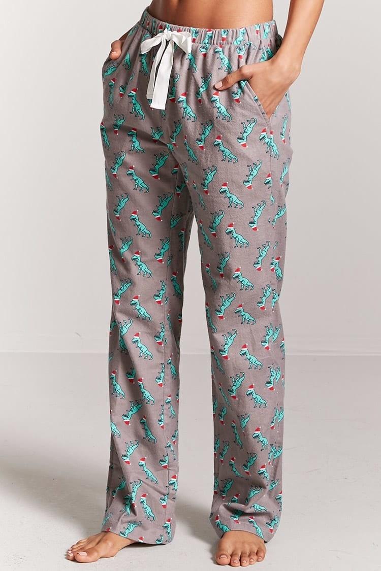 Women Plush Fleece Pajama PJ Bottoms Pants Winter Warm Sleepwear Rose XXL