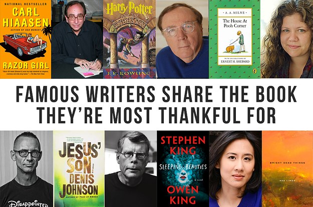 22 Famous Writers Told Us About The Book They're Most Thankful For