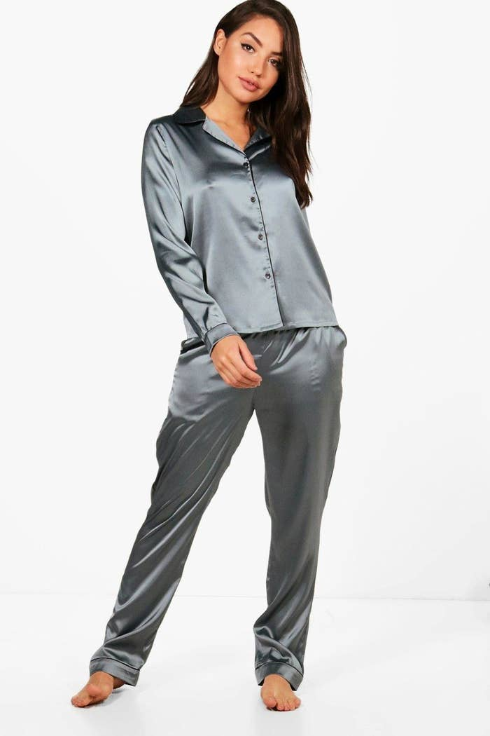 dd6c7ac12f A satin pajama set you may have seen before. I m pretty sure it had a cameo  on Gossip Girl.