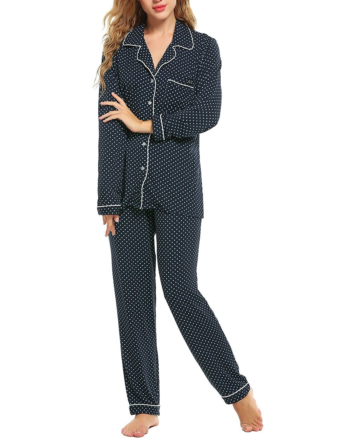 135626596a A pajama set you ll want to lounge around in all day. Getting out of bed   Who even does that anymore