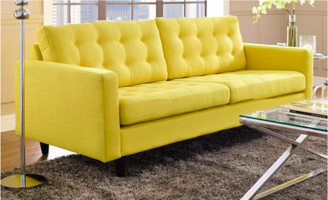 a sunny fabric sofa youu0027ll gravitate toward when times get rough and you need a nap