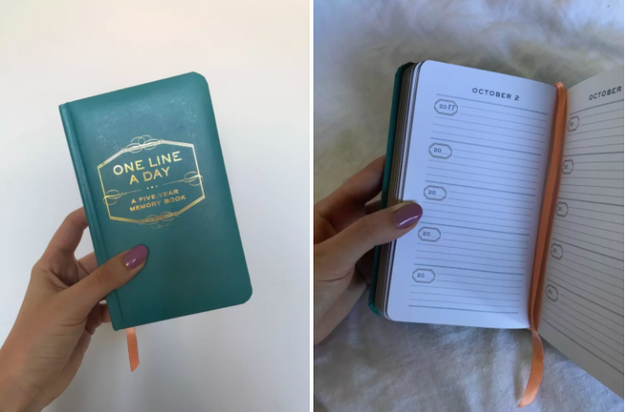 For someone who's short on time but loves to reminisce, buy this one-line-a-day journal.
