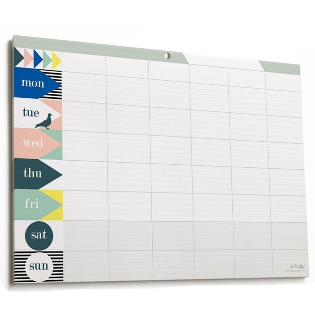 For your busy friend who prefers to plan day-to-day than week-to-week try a weekly planner.