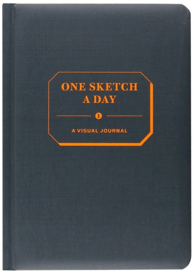 For someone who thinks in pictures, not in words, try a sketch-a-day journal.