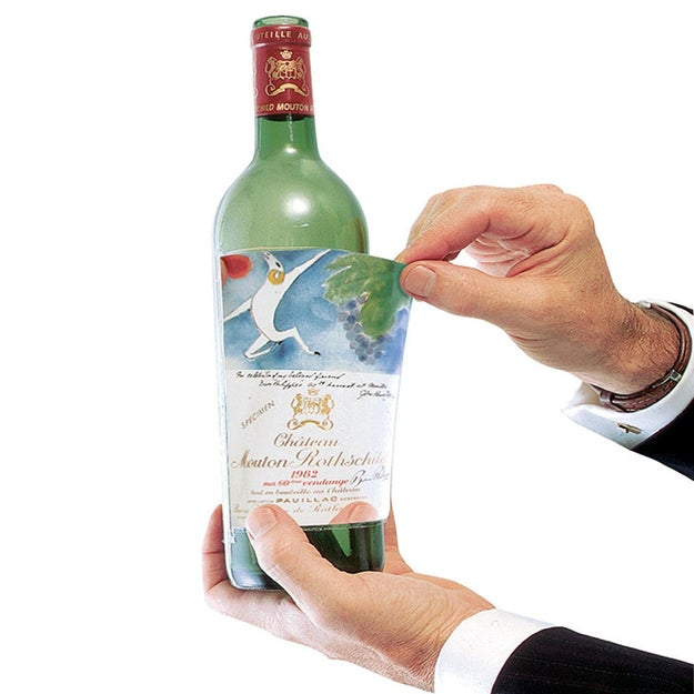 A set of Label Savers that allow you to laminate and keep special wine labels.