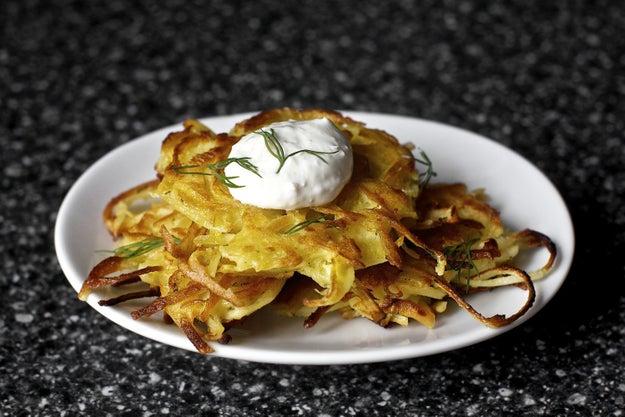Potato-Parsnip Latkes With Horseradish and Dill