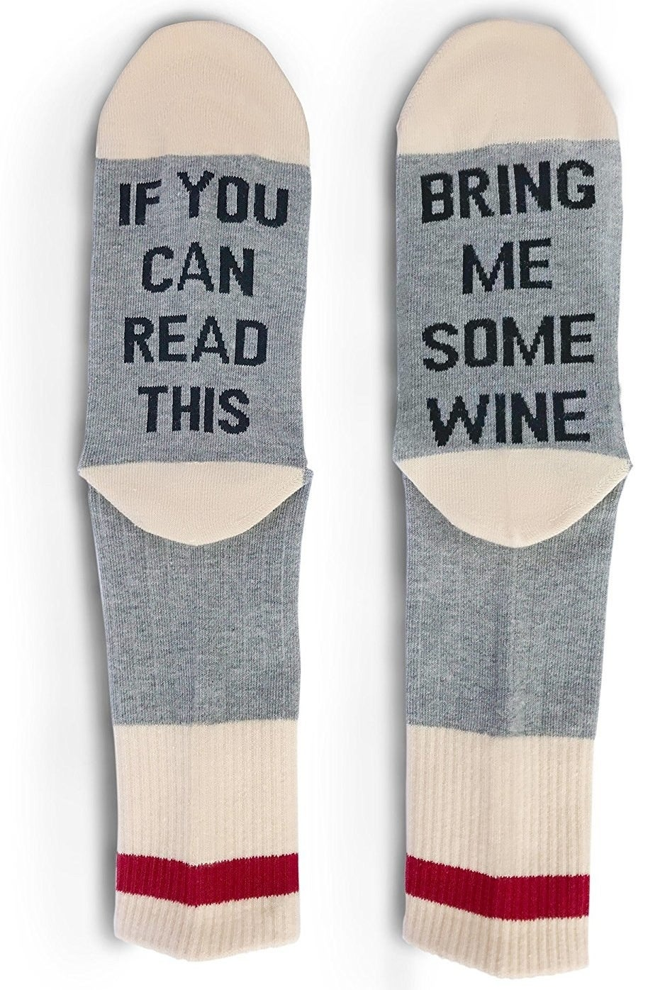 A pair of cozy socks that'll really get their point across.