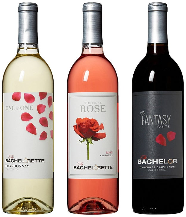"A bottle of ""The Bachelor"" wine for a perfect accompaniment to reality TV."