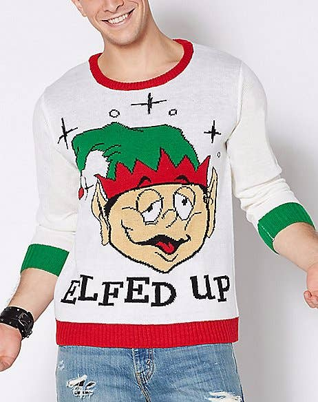 Ugly christmas jumpers - elfed up