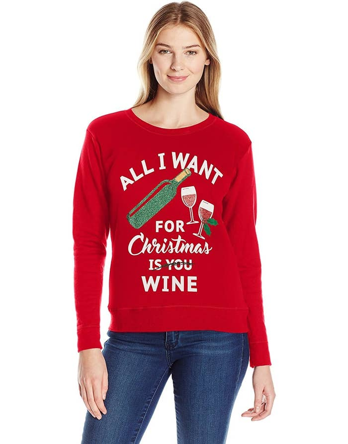 8741c27ff2e6 A sweater perfect for articulating your absolute love of fermented grapes.