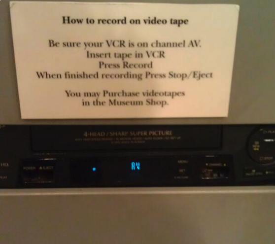 VCRs...