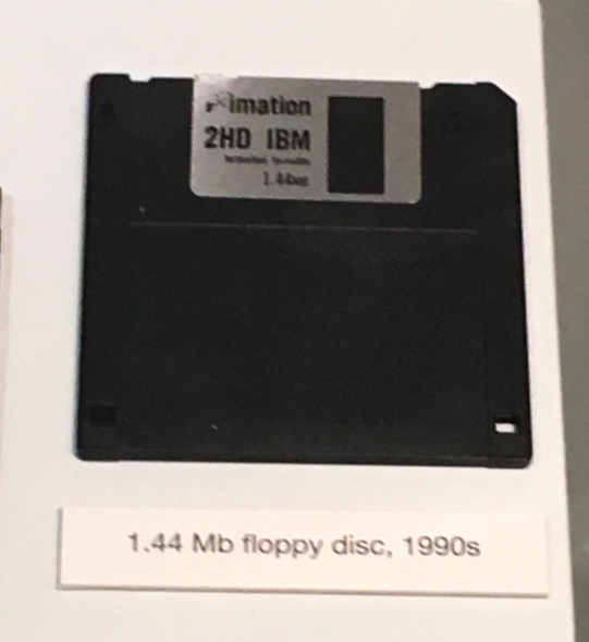 Floppy Discs? IN A MUSEUM.
