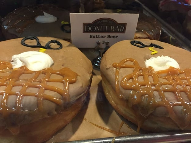 Butterbeer donuts from Donut Bar in San Diego, CA
