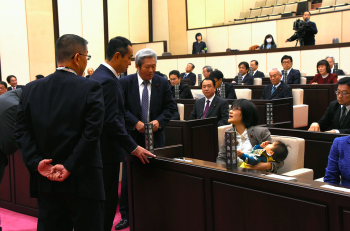 """After the session, Ogata told media she """"wanted the Kumamoto Municipal Assembly to be a place where women who are raising children can do a great job."""""""