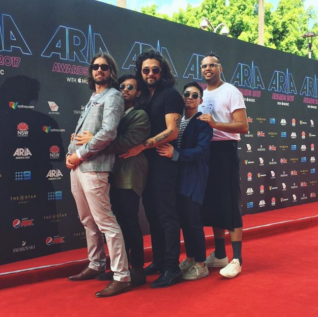 "Gang of Youths foreshadowed all their award wins with their pre-show ""pregnancy"" shot:"