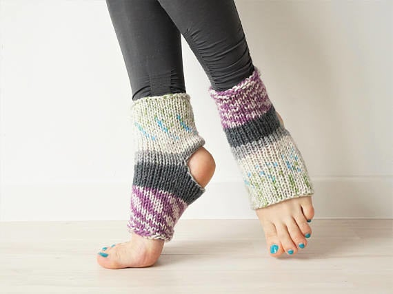 """Promising review: """"They looked great and I've worn them several times already in dance classes (tough use) and they're still great, so excellent quality. Thank you!"""" — Liza E.Get it from KnitKnotSpace on Etsy for $22.17."""