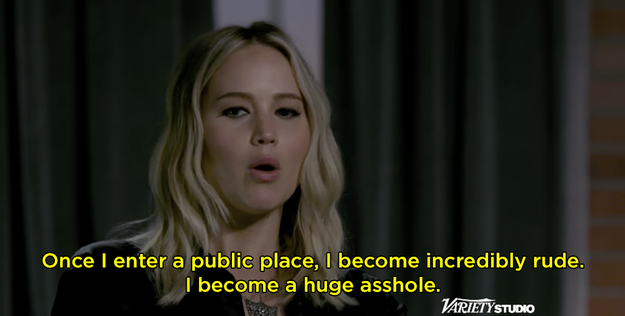 """Jen said that when she enters a public space she becomes """"incredibly rude."""""""