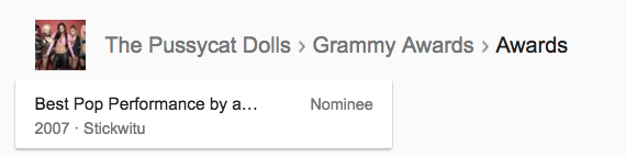 It's anti-feminist that the Pussycat Dolls have no Grammys.