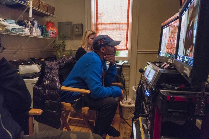 Spike Lee on the set of She's Gotta Have It.
