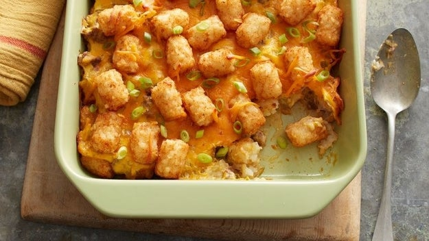 Green Chile Tater Tot Casserole