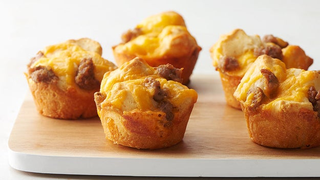 Cheesy Sausage Biscuit Cups