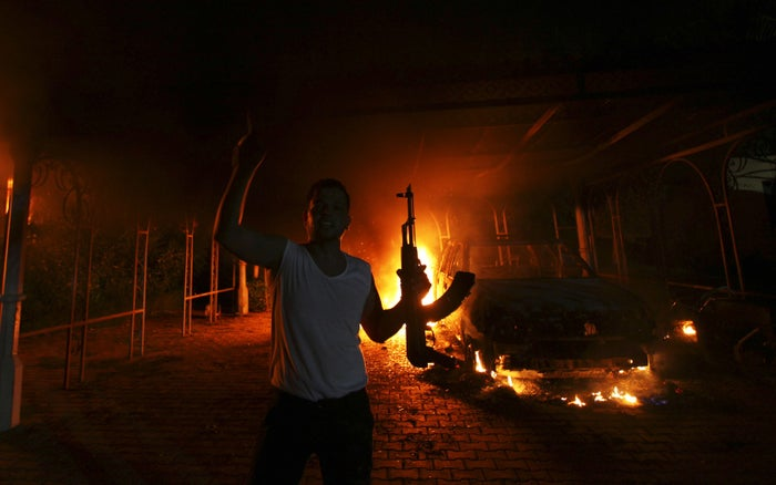 The U.S. Consulate in Benghazi after the attack on Sept. 11, 2012.