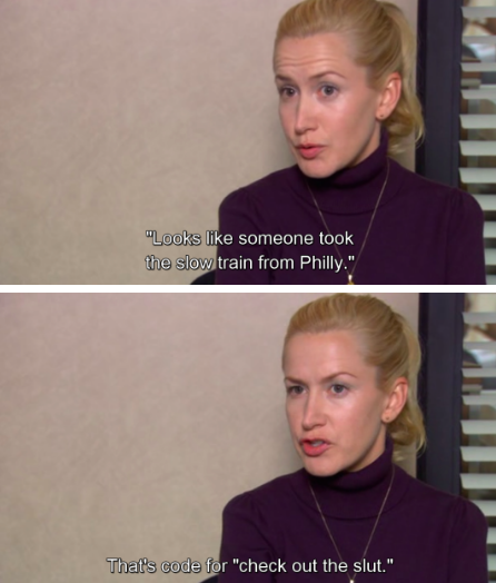 When Angela introduced us to some of her family slang: