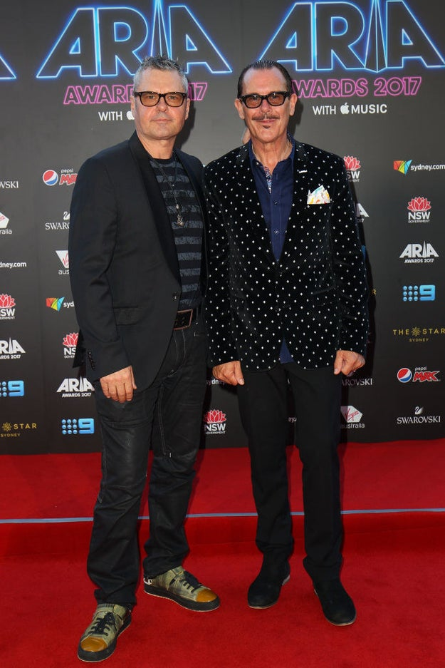 Jon Farriss and Kirk Pengilley of INXS