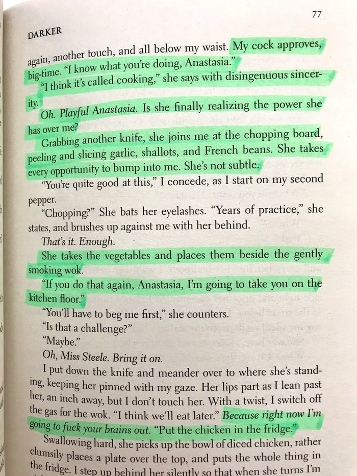 Its This Bit In The Book Where Christian Grey And Ana Decide To Have Halfway Through Making A Stir Fry