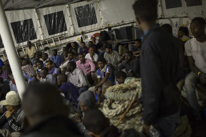 Just 285 miles from Malta and 345 from Italy, Libya's northern coast has been a jumping off point for migrants trying to reach Europe for decades. The situation began to worsen in 2011, when the then-government was toppled by rebel forces — igniting a period of chaos and unsteady rule. Following the collapse of former Libyan leader Muammar al-Qaddafi's regime, with the help of the US and other NATO countries, the country has yet to rebuild. There are several competing alliances claiming to be the legitimate government and extremists are finding plenty of space to set up camp. That same lawlessness has also made it an ideal staging ground for refugees and migrants from across the continent to try to reach Europe.