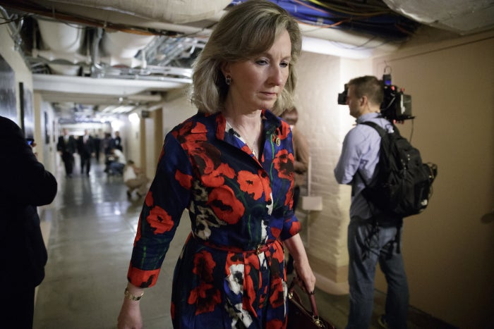 Rep. Barbara Comstock of Virginia, who sponsored the House resolution to require sexual harassment training for all members and staff.