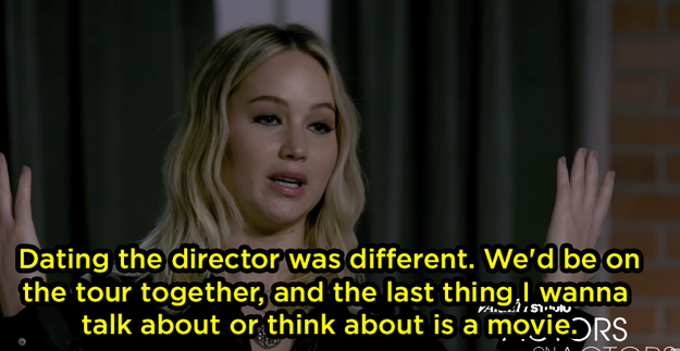 But because she was dating the director, things were different.