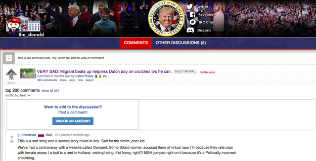 Also in May, the video made rounds on the notorious and pro-Trump Reddit forum, The_Donald, receiving 224 comments.