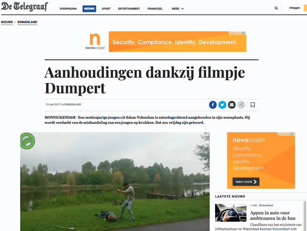 A day later, on May 14, 2017, Dutch police found and arrested the attacker thanks to the posted video, according to a report from De Telegraaf, a Dutch news organization.