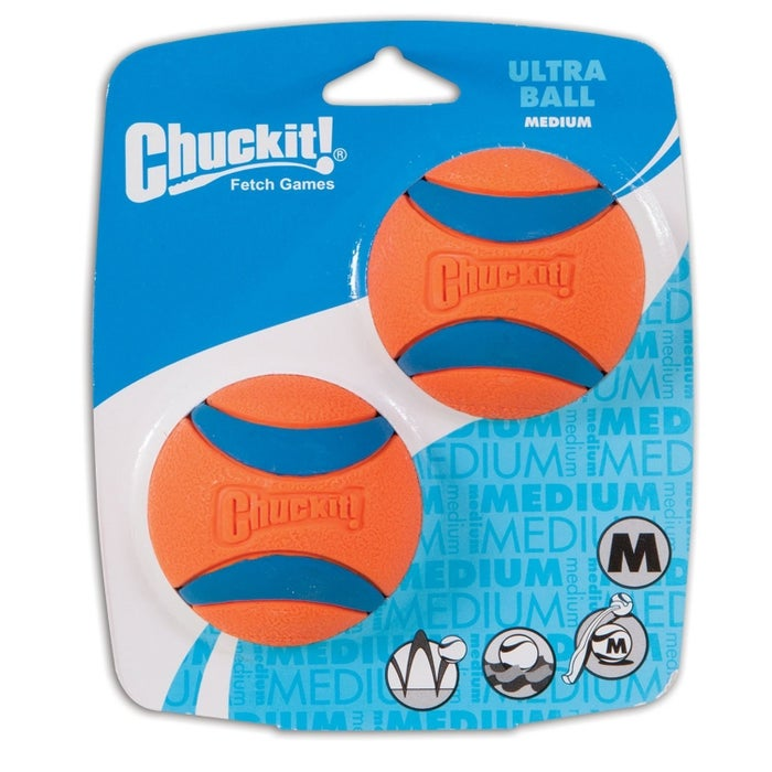"""Promising review: """"The ball is lightweight, unlike other indestructible balls that are often of heavier weight. The ball is orange and easy to locate in the grass, and it has a lot of bounce to it. It floats in water, and best of all, it has stood up to the teeth of a dog that seems more focused on destroying the ball than actually playing with it."""" —The Flying PenguinGet it from Amazon (available in S–2XL and one- and two-packs) for $4.95+ or Chewy (available in small and medium two-packs) for $7.95."""