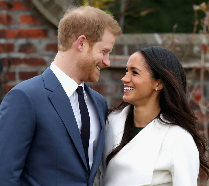 Prince Harry and Meghan Markle announce their engagement on Nov. 27 in London.