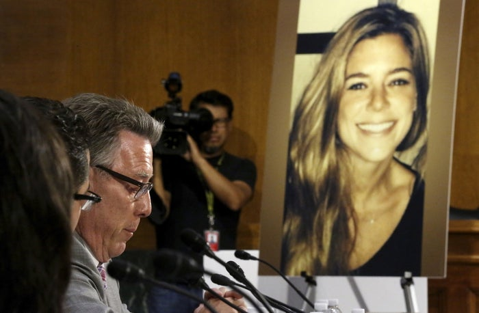 Jim Steinle, father of Kate Steinle, speaks during a hearing of the Senate Judiciary Committee on July 21, 2015.