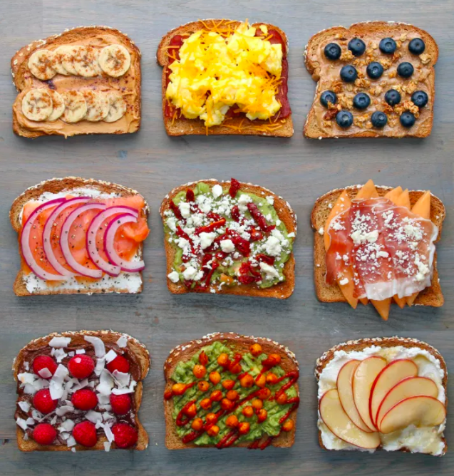 You will be way more energized and less moody when you get to the office.Learn how to make the fun toasts above here.