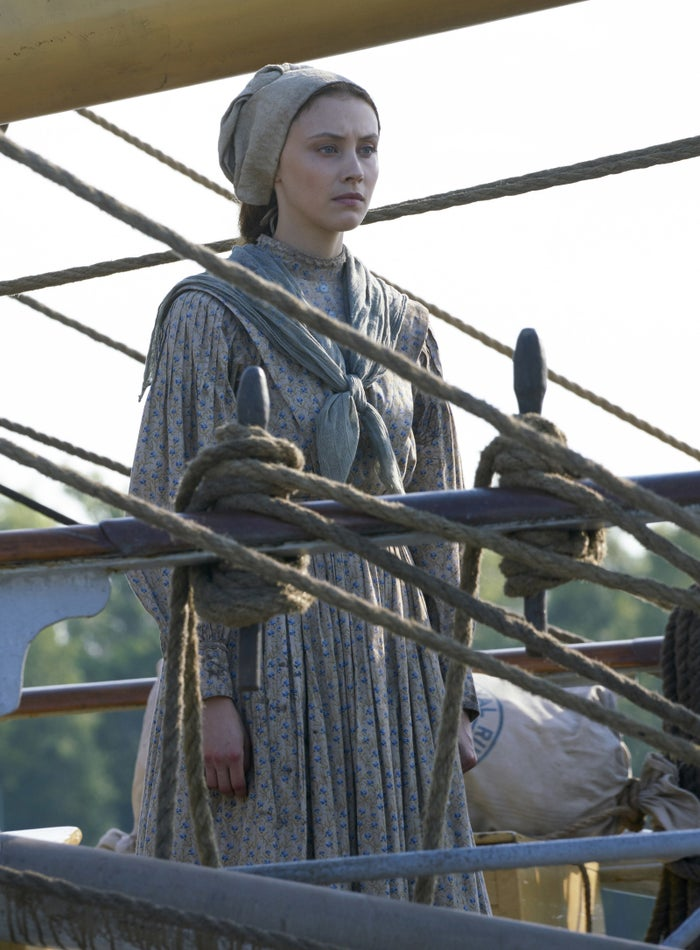 Sarah Gadon as Grace Marks.
