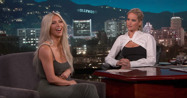 ICYMI, last night Jennifer Lawrence guest-hosted an episode of Jimmy Kimmel Live during which she had an intensely personal 20-minute interview with none other than Kim Kardashian West.