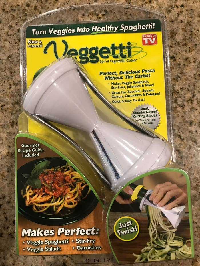 The Veggetti has over 3,000 reviews on Amazon (and more than half of the ratings are 4 or 5 stars). And since it costs less than $10, I figured I really had nothing to lose in trying it.
