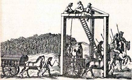 Prisoners would travel from Newgate Prison to Tyburn through St Giles in the Fields and Oxford Street.