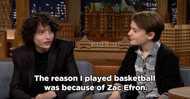 Finn even revealed that he was so obsessed with it when he was younger that it inspired him to take up basketball.