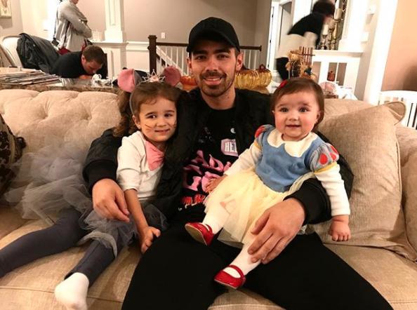 Joe Jonas was a happy uncle.