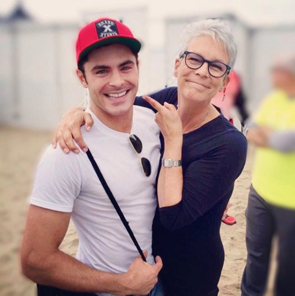 Jamie Lee Curtis was happy to see Zac Efron.