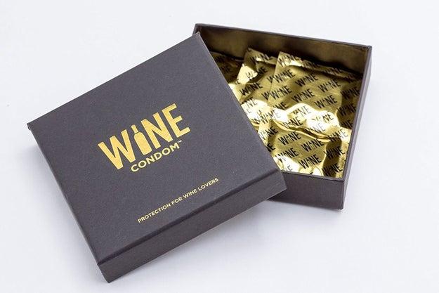 Introducing: wine condoms.