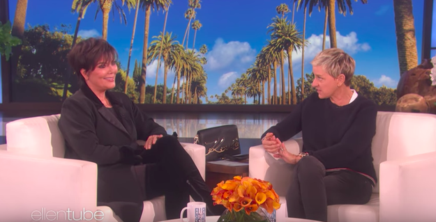 """""""Kim and Kanye are expecting, and that's exciting,"""" Ellen said, to which Kris agreed."""