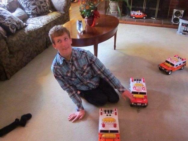 """For Max, who Gretschel said was born with brain damage and multiple sclerosis, Tonka """"only came out with a couple of toys over the years with levers that are super handicapped friendly."""""""