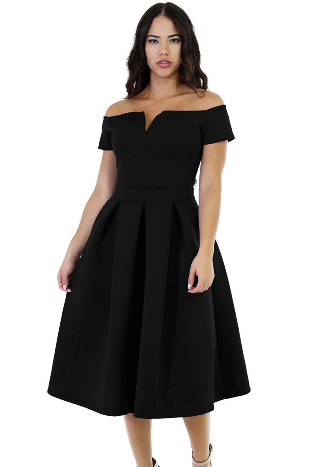 40 stunning and cheap dresses to wear to a winter wedding a timeless off the shoulder dress for you to be with for all your days because you make a perfect pair ombrellifo Gallery
